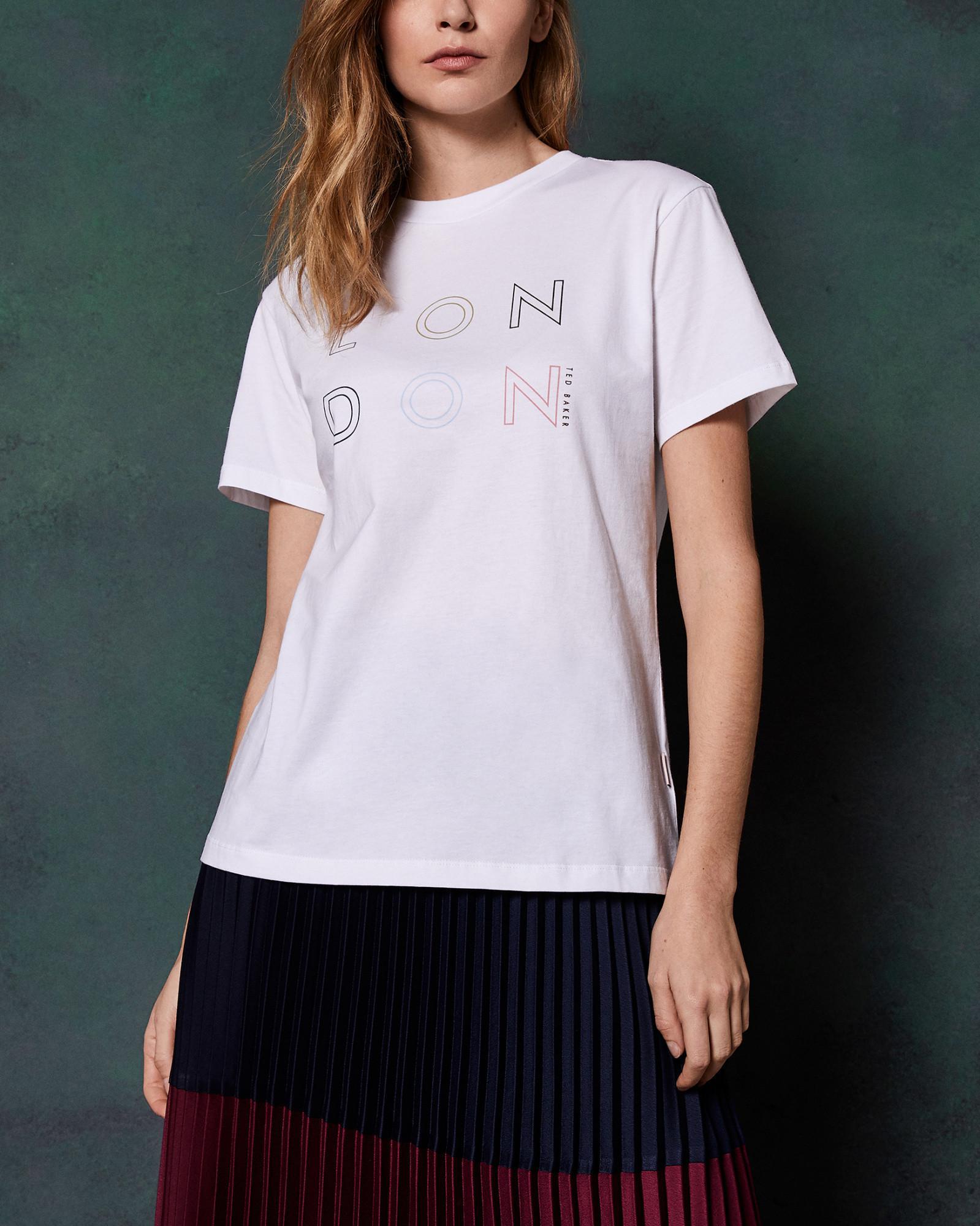 d06ad639d Lyst - Ted Baker Logo London T-shirt in White