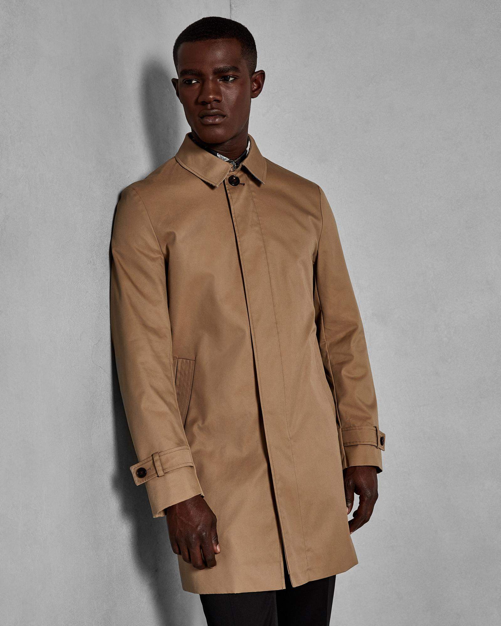 b3dafc76c Ted Baker Trench Coat in Natural for Men - Lyst