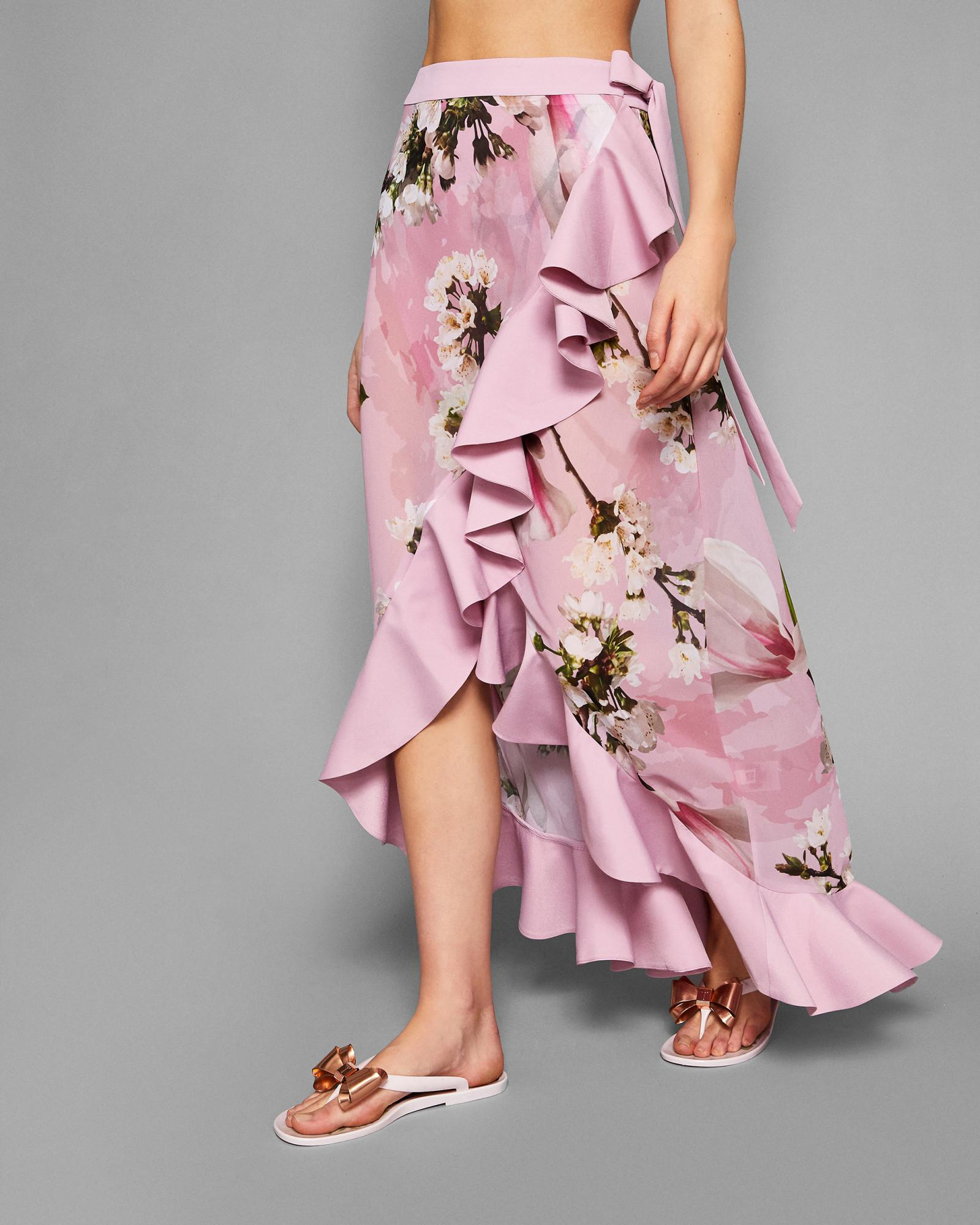 5c991c9d8e Ted Baker Harmony Ruffle Maxi Sarong in Pink - Lyst