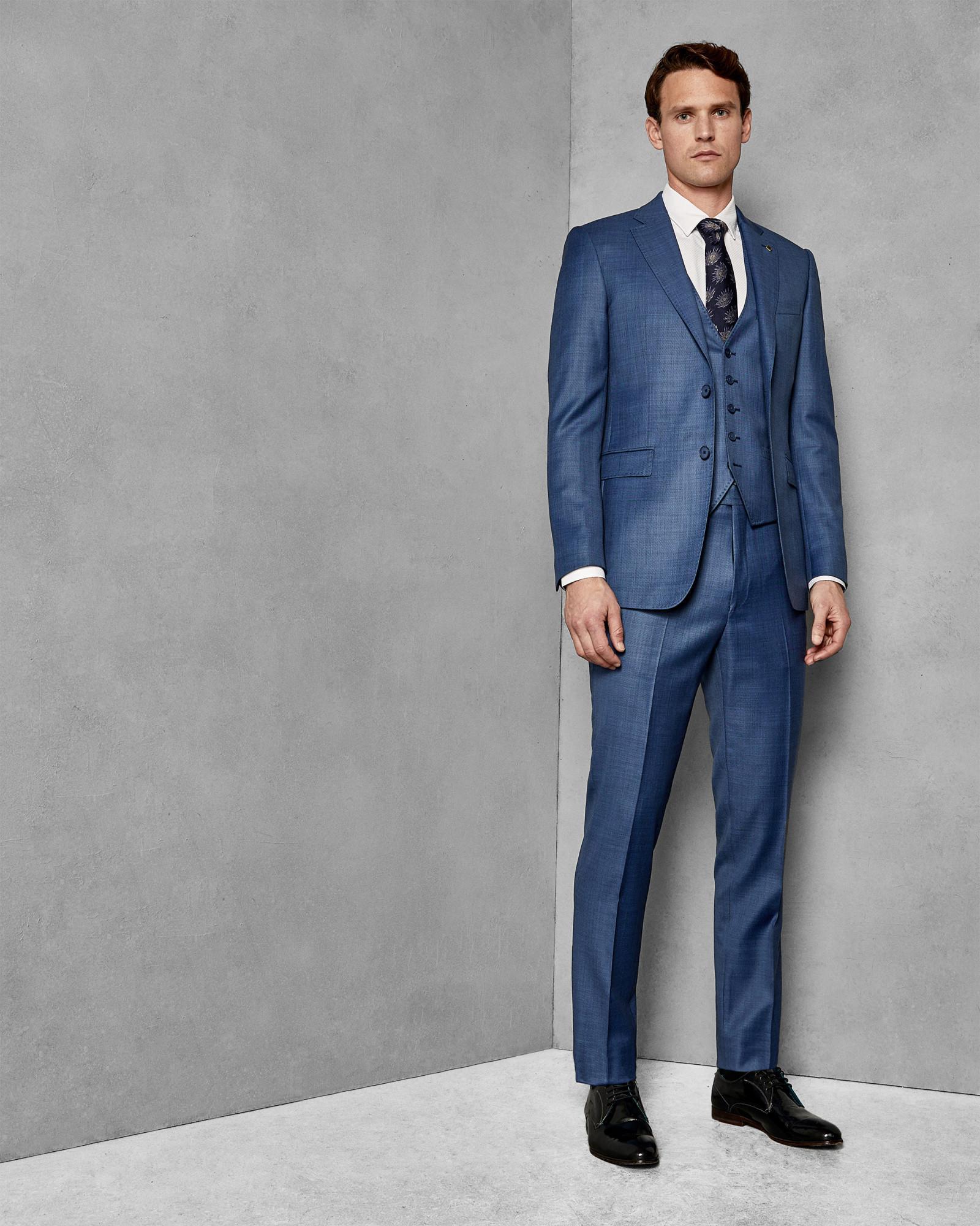 fcc660639b6c Ted Baker Debonair Slim Wool Suit Jacket in Blue for Men - Lyst