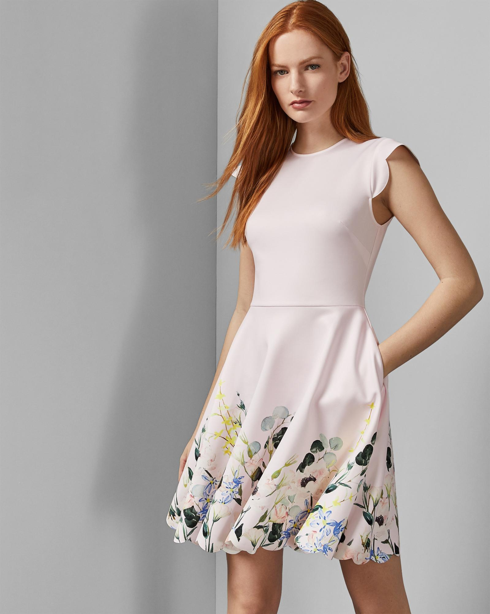 bbbecf2a38 Lyst - Ted Baker Bridgt Elegance-print Dress in Pink