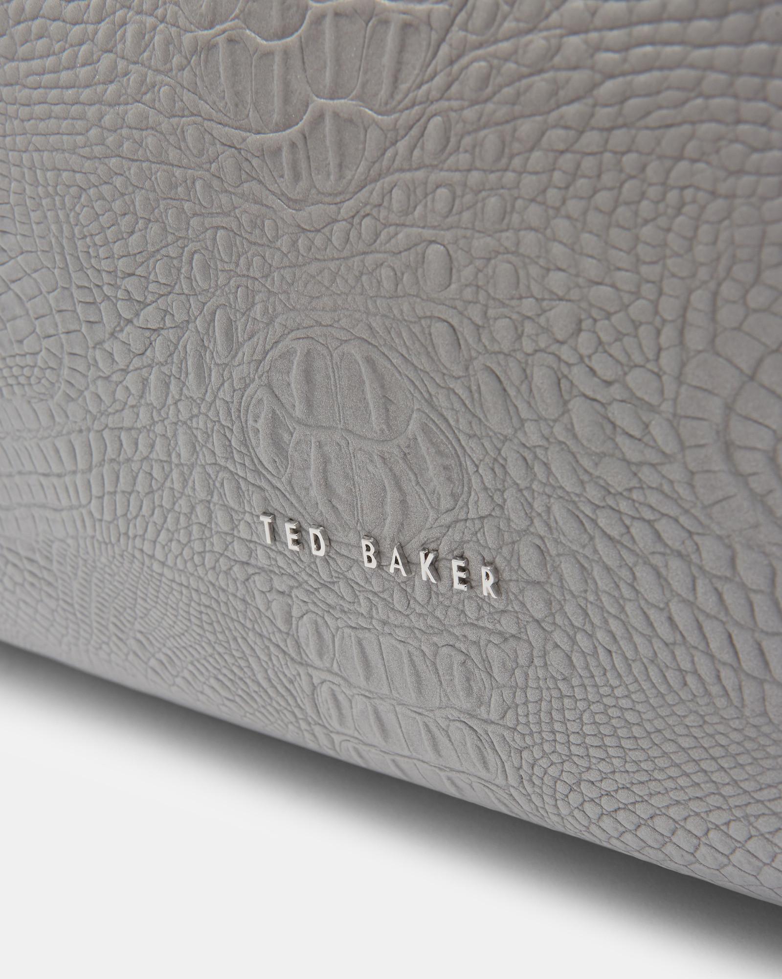 9678f5df1d22 Ted Baker Croc Embossed Duffel Bag in Metallic - Lyst