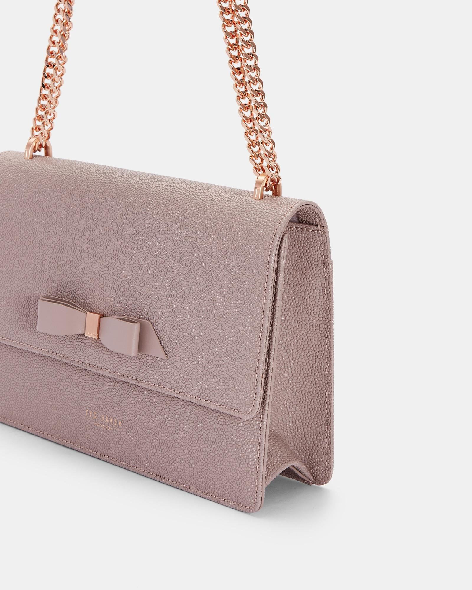 96b895c77 Ted Baker Bow Detail Leather Cross Body Bag in Pink - Lyst