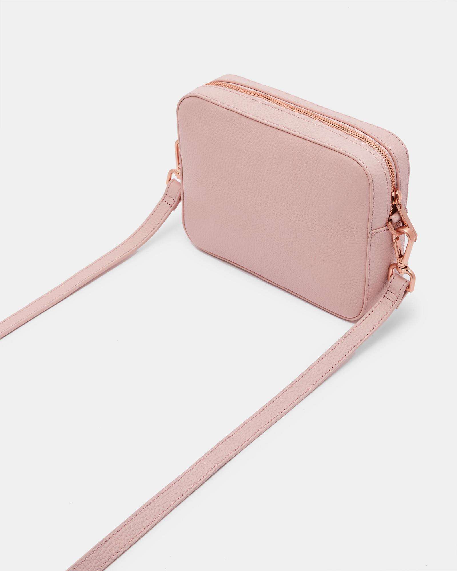 7fc21f42f6eb Lyst - Ted Baker Saphire Soft Leather Camera Bag in Pink - Save 30%