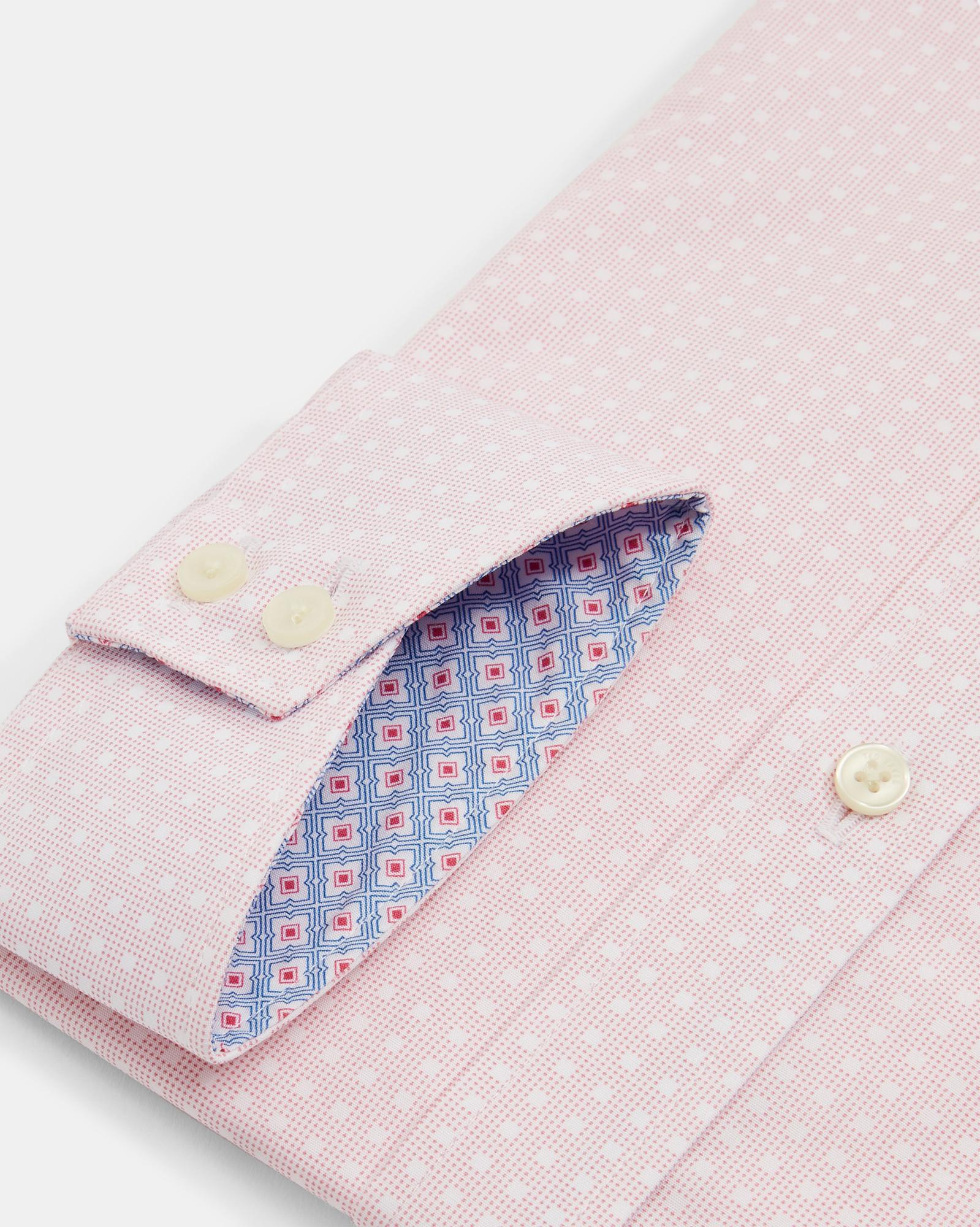 4b0d4cef652b Ted Baker Spot Square Cotton Shirt in Pink for Men - Lyst