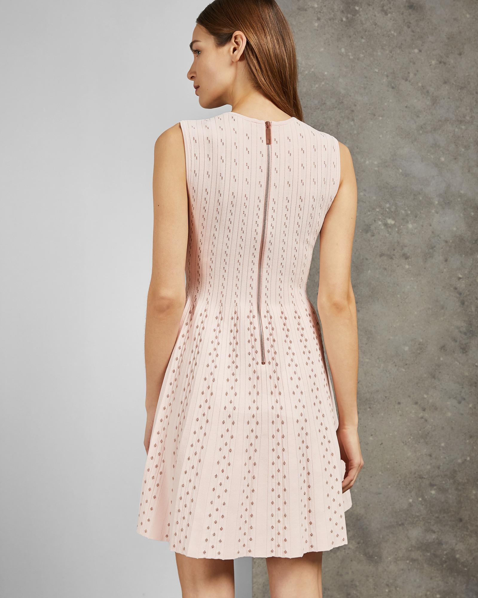 dc0b139ba8f9d Ted Baker - Pink Vellia Knit Skater Dress - Lyst. View fullscreen