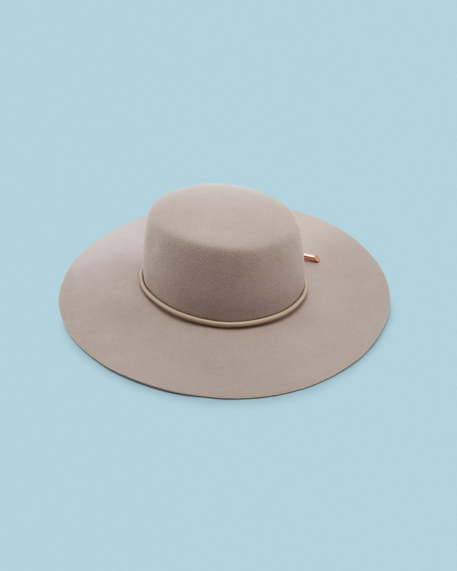 Ted Baker Rope Detail Floppy Hat in Gray - Lyst 586d8f1535d2