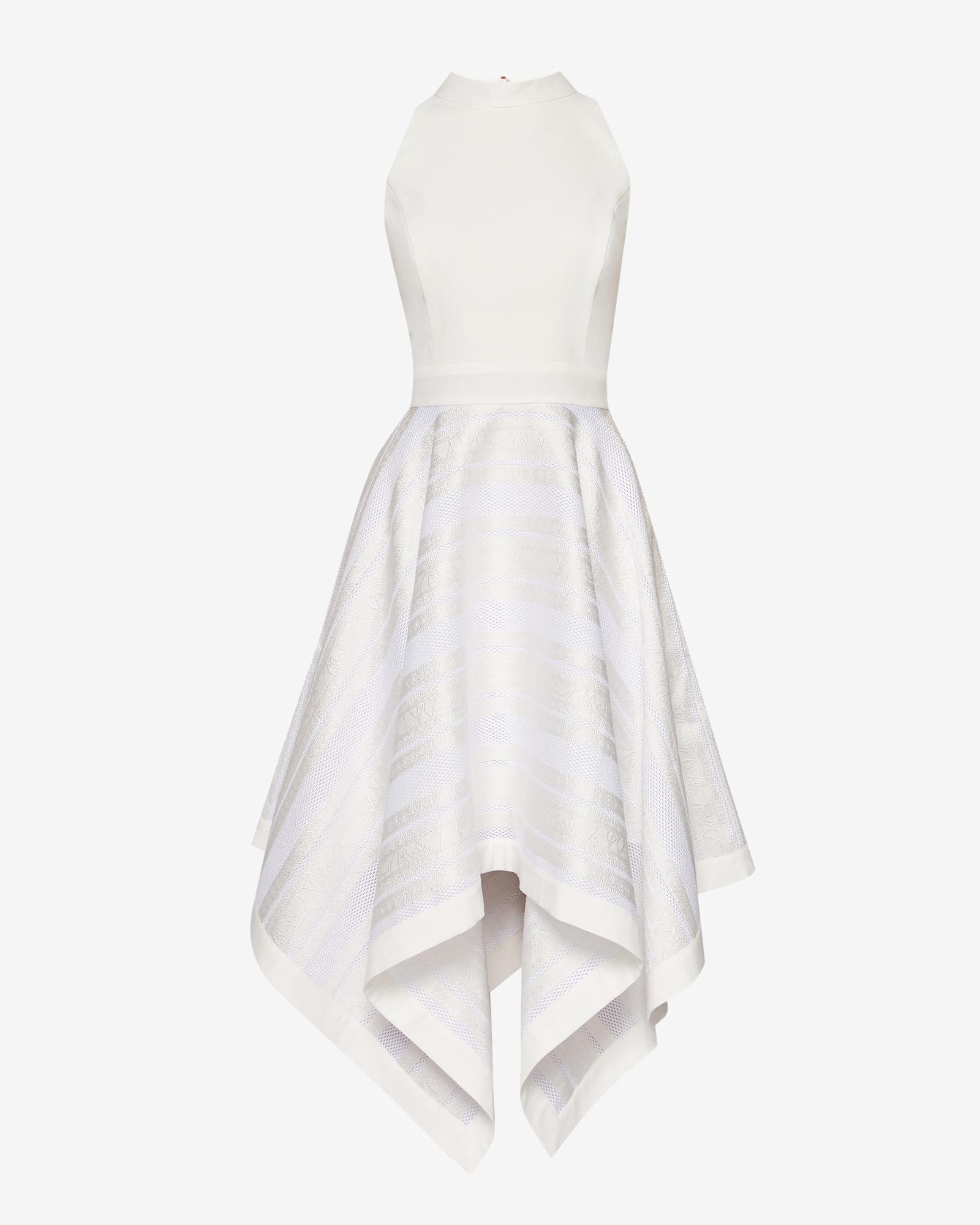 debb46a62fe1a Lyst - Ted Baker Draped Skirt Dress in White