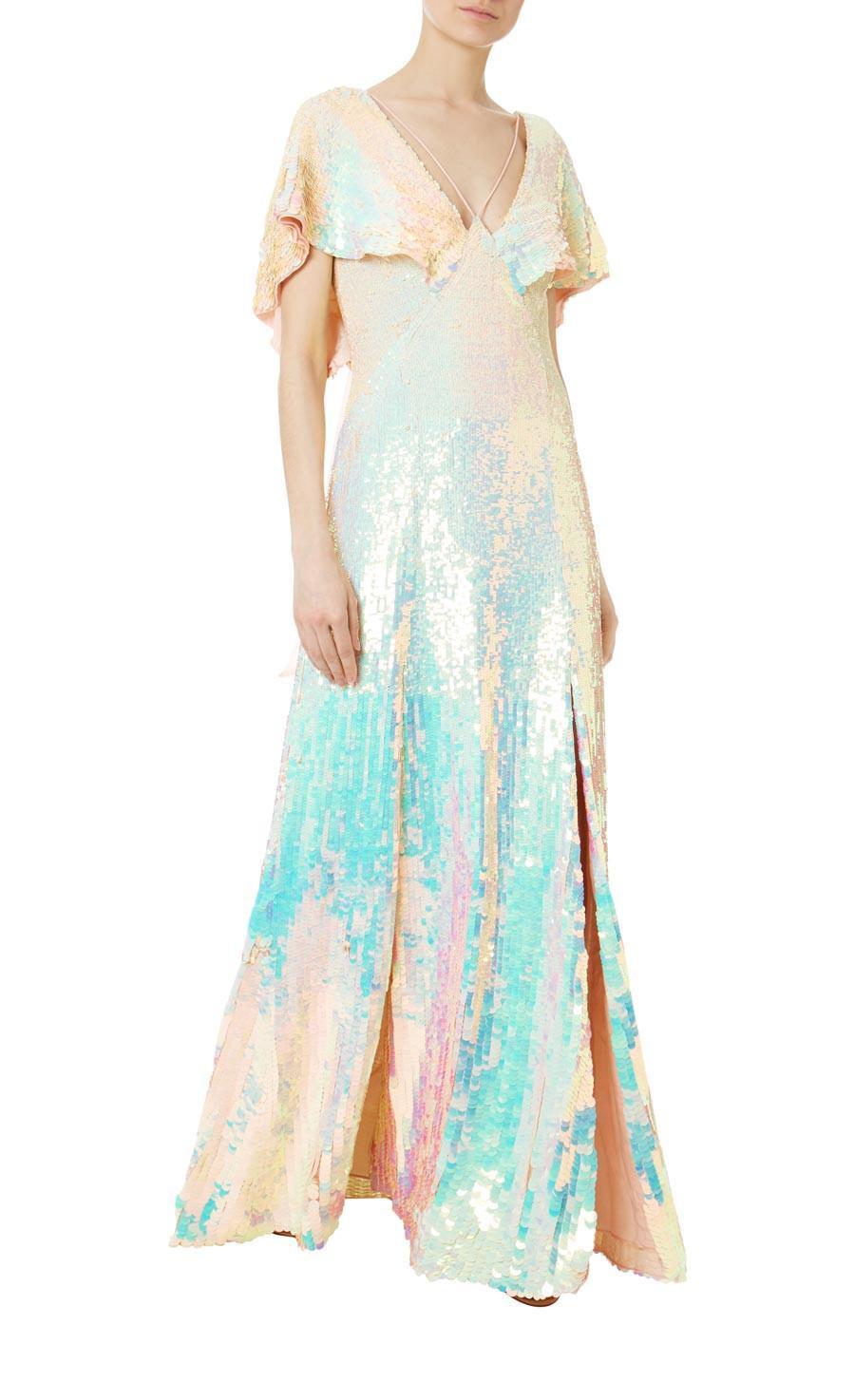 bb0f1394584a Lyst - Temperley London Bardot Dress in Blue