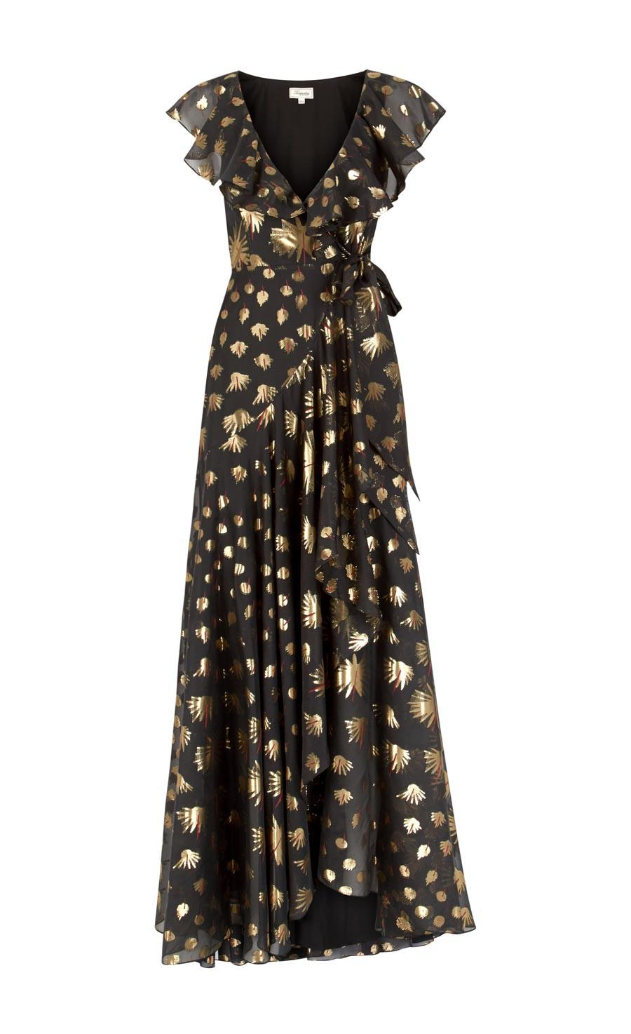 sequinned tulle tiered dress - Black Temperley London Outlet Cheap Prices Sale Low Cost Huge Surprise Cheap Price Free Shipping Hot Sale Clearance Sale G49xw