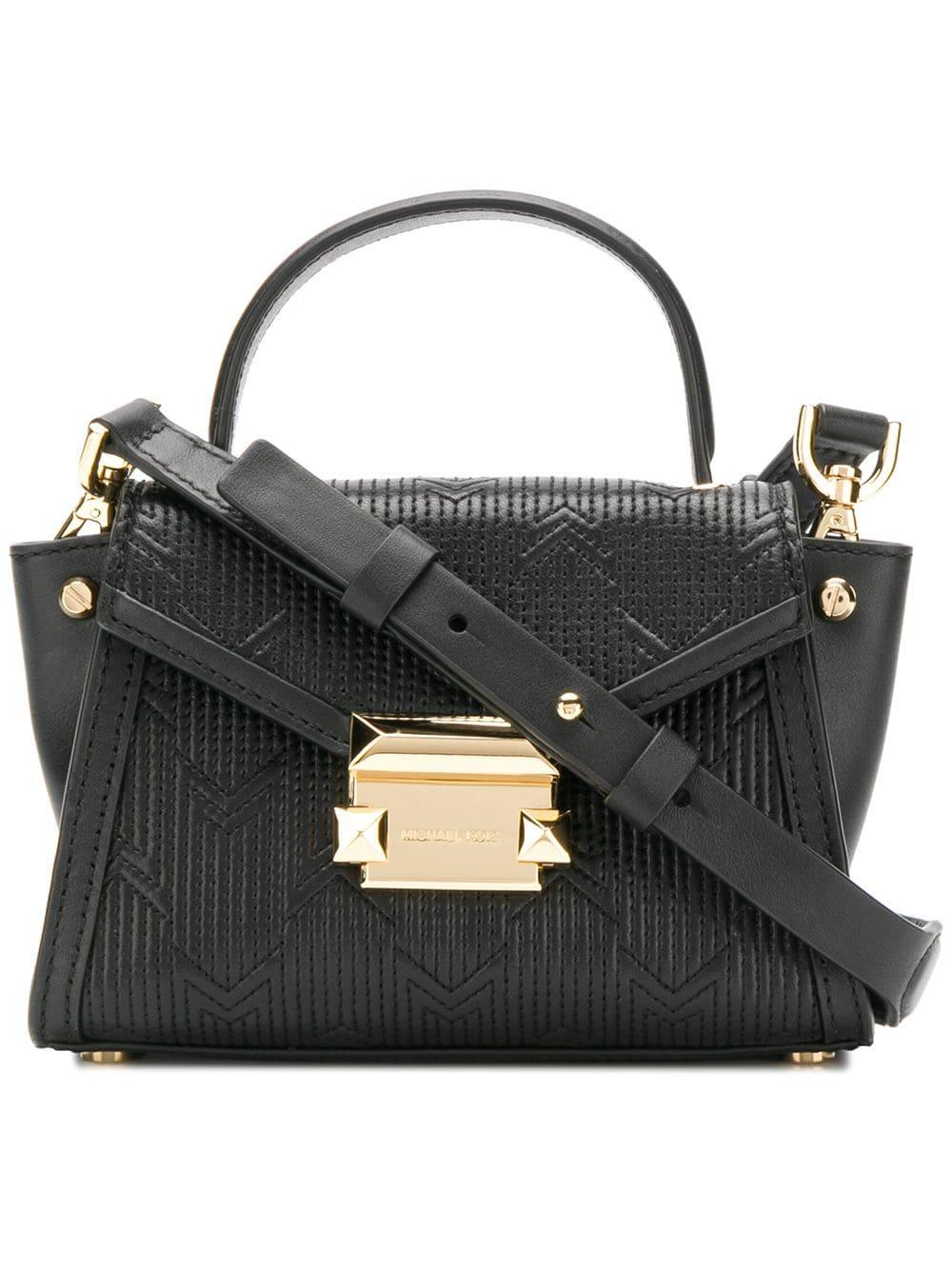 4f74a7445b7e Lyst - MICHAEL Michael Kors Whitney Leather Shoulder Bag in Black ...