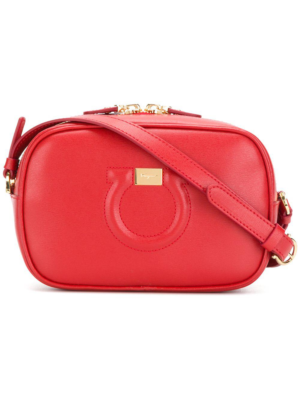 3a861ea48f Ferragamo City Goncho Leather Shoulder Bag in Red - Save ...