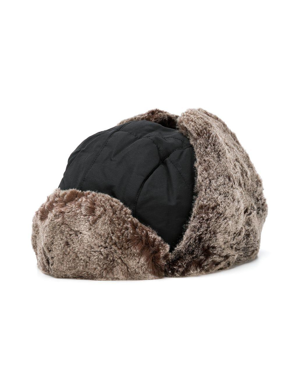 a27eef53 Lyst - Woolrich Faux-fur Contrast Hat in Black for Men - Save 7%