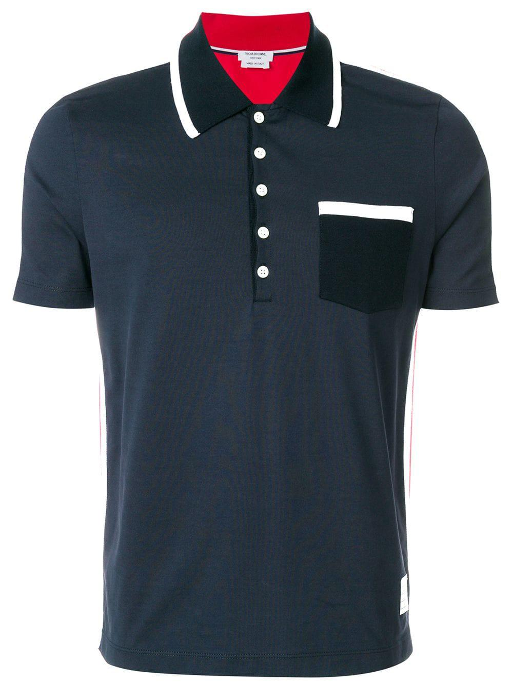 940c5c69 Lyst - Thom Browne Cotton Polo Shirt in Blue for Men - Save 68%