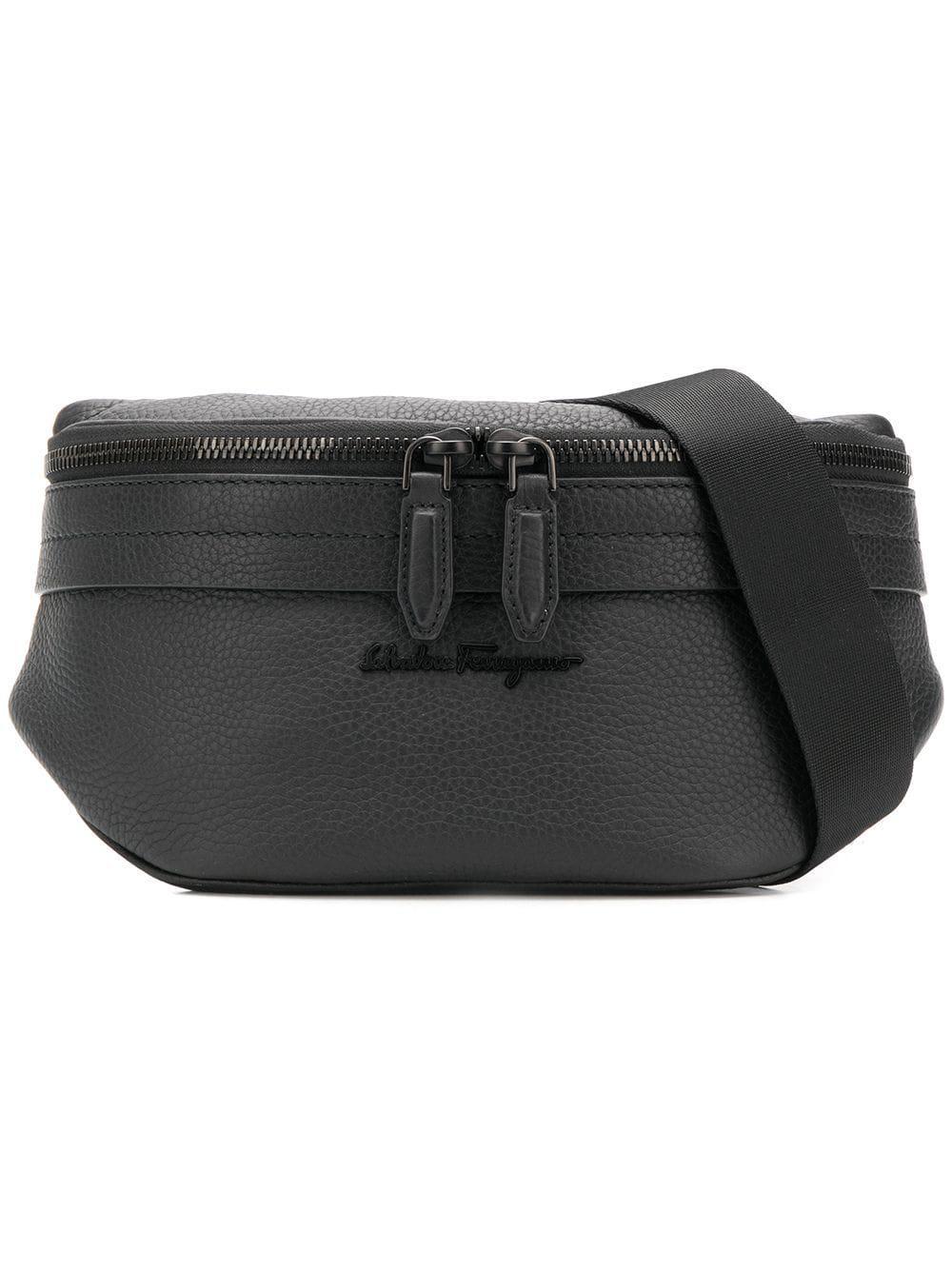 87827c8fdee Ferragamo - Black Leather Pouch for Men - Lyst. View fullscreen