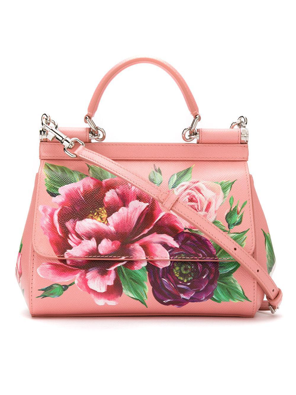 3b963a72398 ... Dolce Gabbana. Womens Pink Sicily Printed Calfskin Bag cheap for  discount c9e5e 390af . ...