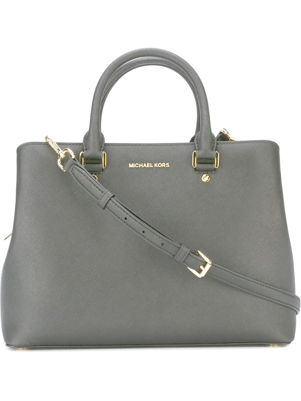 michael michael kors savannah large satchel in gray lyst. Black Bedroom Furniture Sets. Home Design Ideas