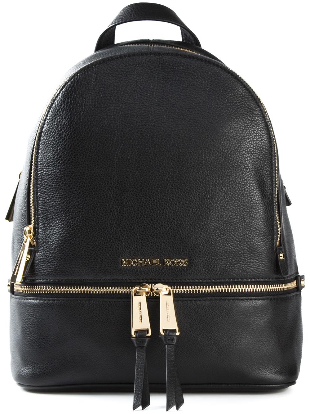 lyst michael michael kors rhea zip backpack