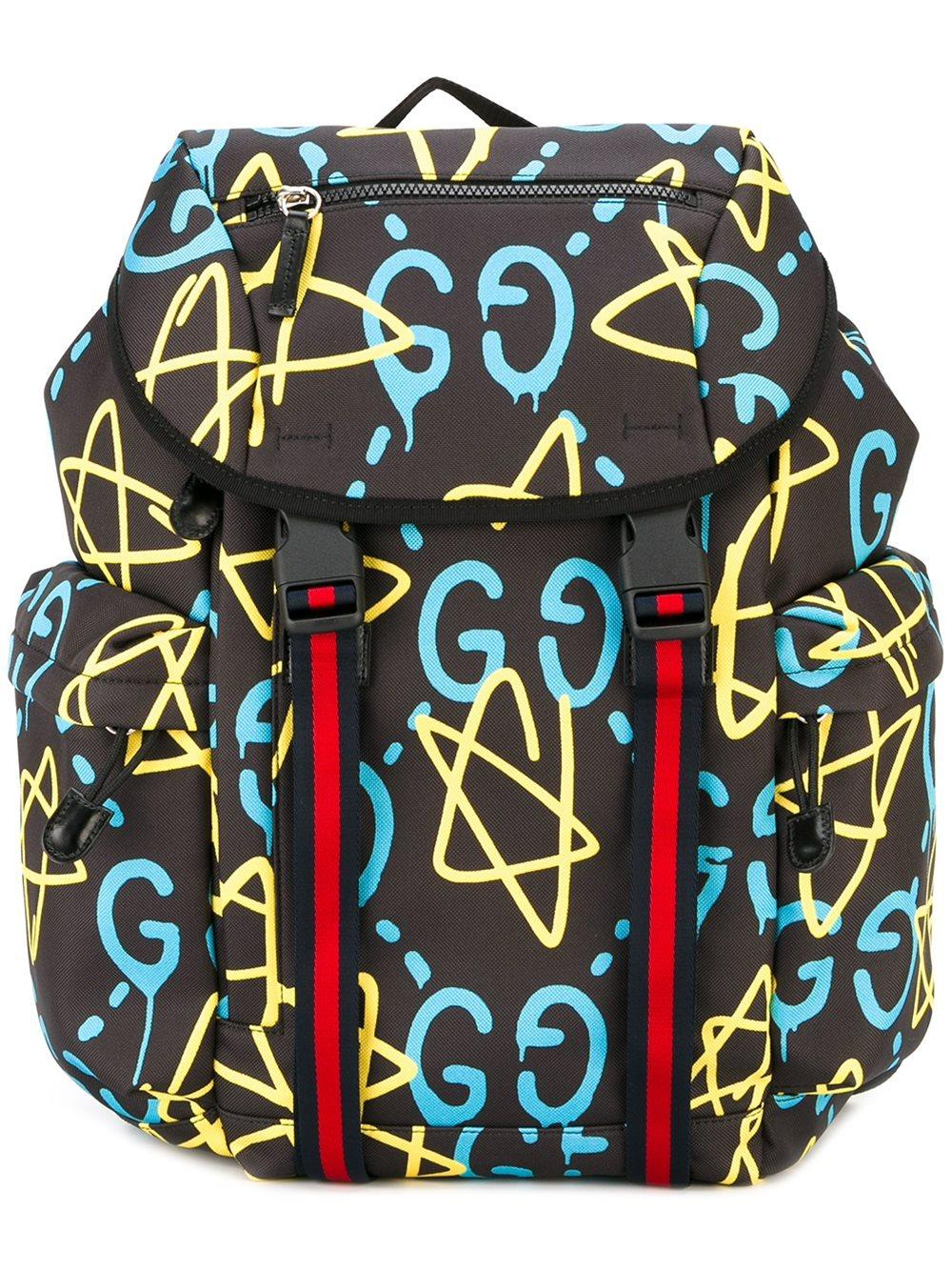 Lyst Gucci Ghost Printed Backpack