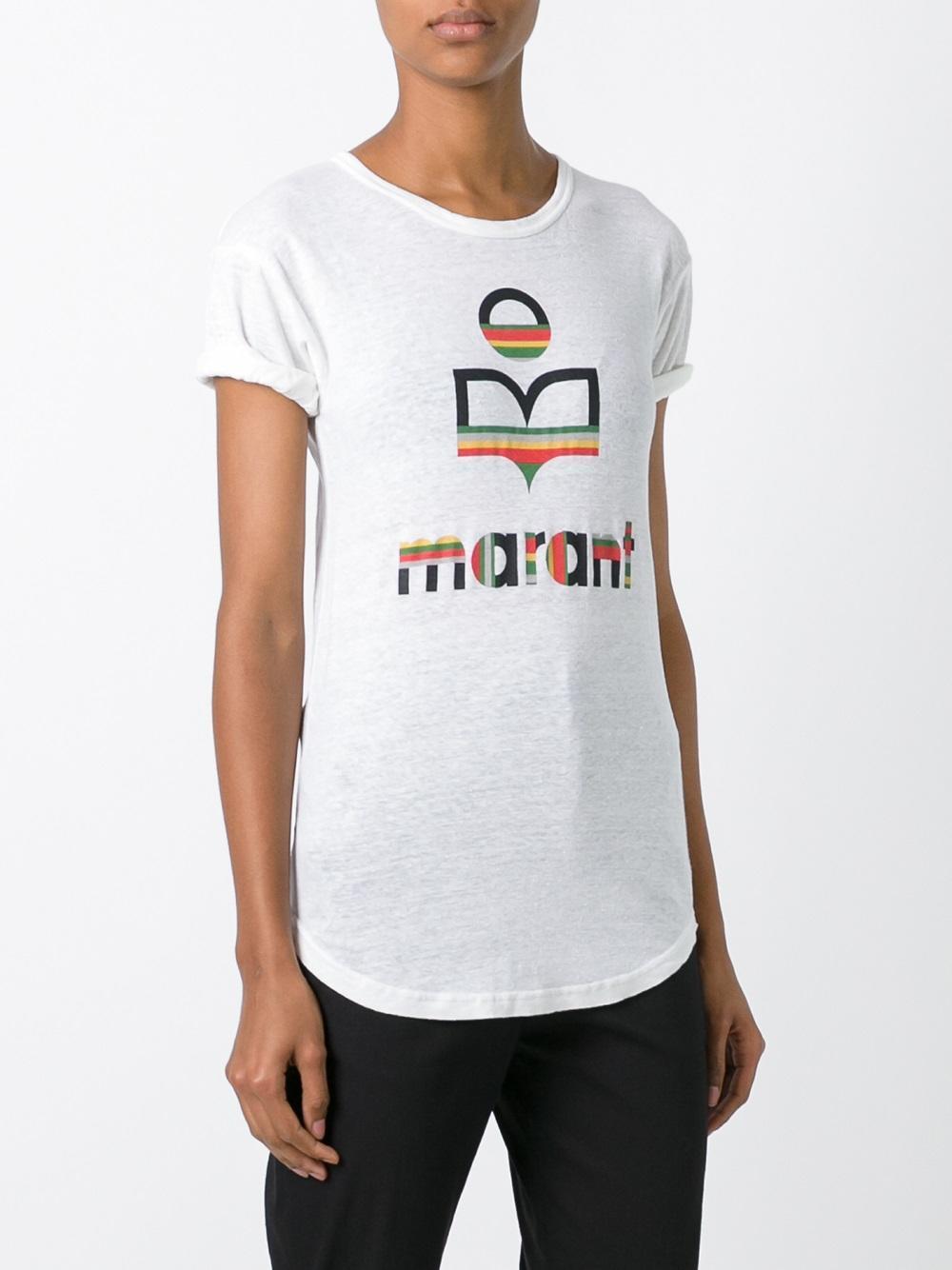 Lyst Toile Isabel Marant Kolda T Shirt In White