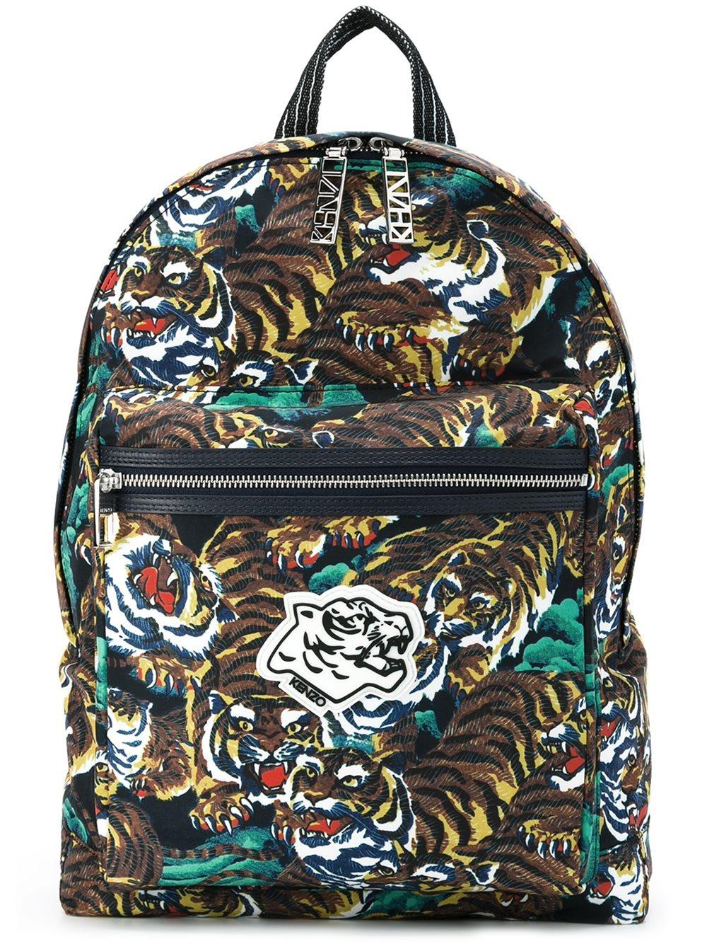 Lyst Kenzo Tiger Backpack In Yellow For Men