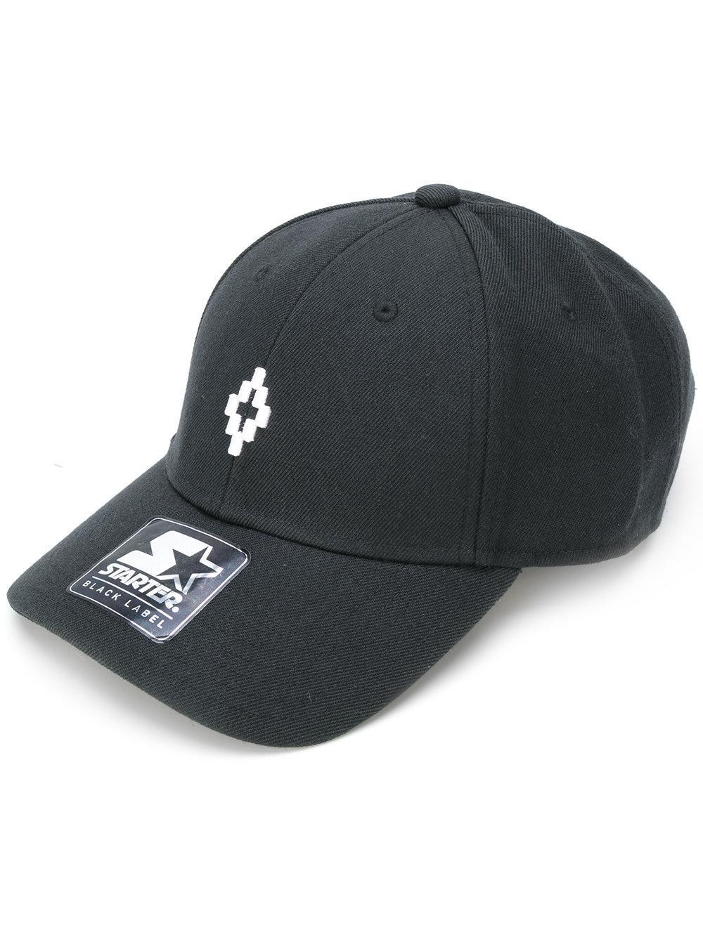 Lyst - Marcelo Burlon Starter Pelken Cap in Black for Men 43ed694d2a9b
