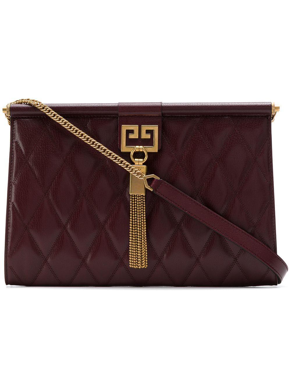 6d64c7115f Givenchy Gem Leather Shoulder Bag in Purple - Lyst