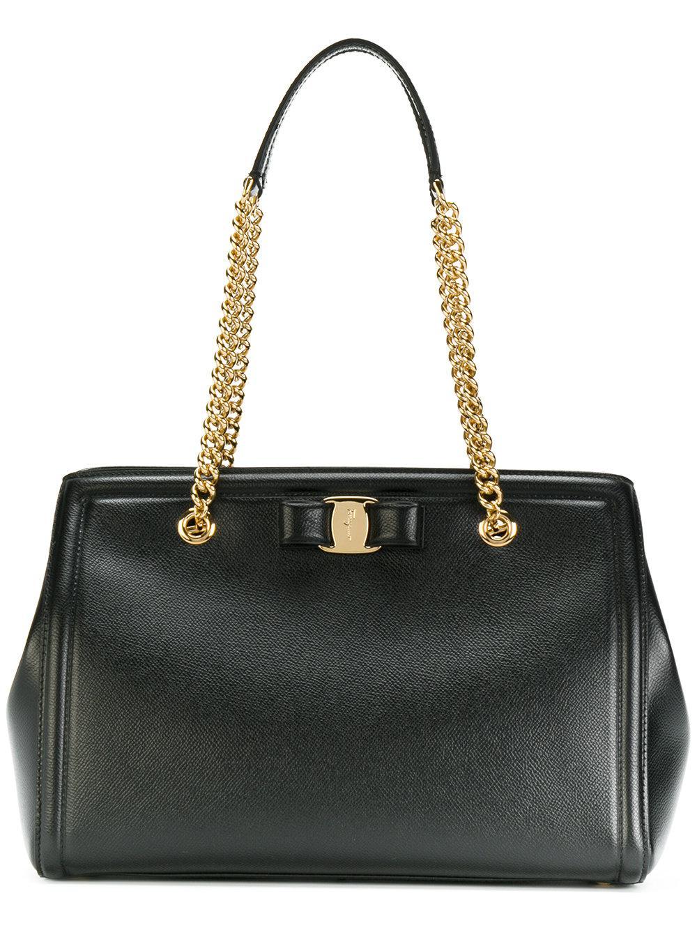 528336dede51 Lyst - Ferragamo Melike Shoulder Bag in Black - Save 4.966887417218544%