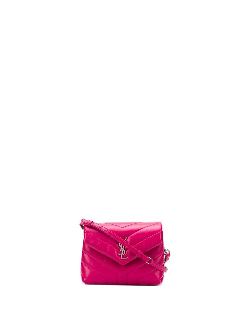 6683f6cc8b77 Saint Laurent. Women s Purple Monogram Loulou Baby Leather Crossbody Bag