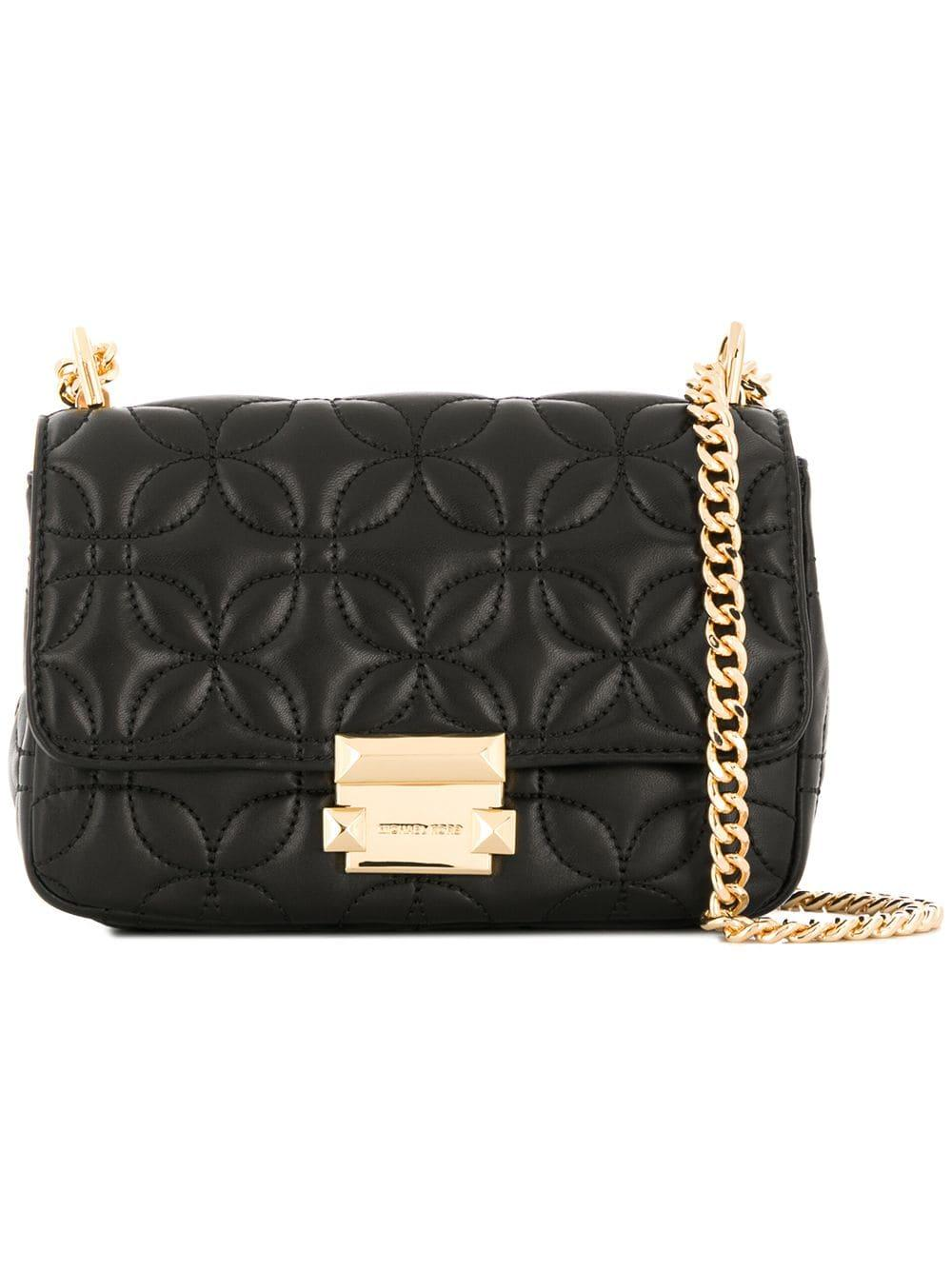 a84c61ad45fa Lyst - MICHAEL Michael Kors Sloan Leather Shoulder Bag in Black