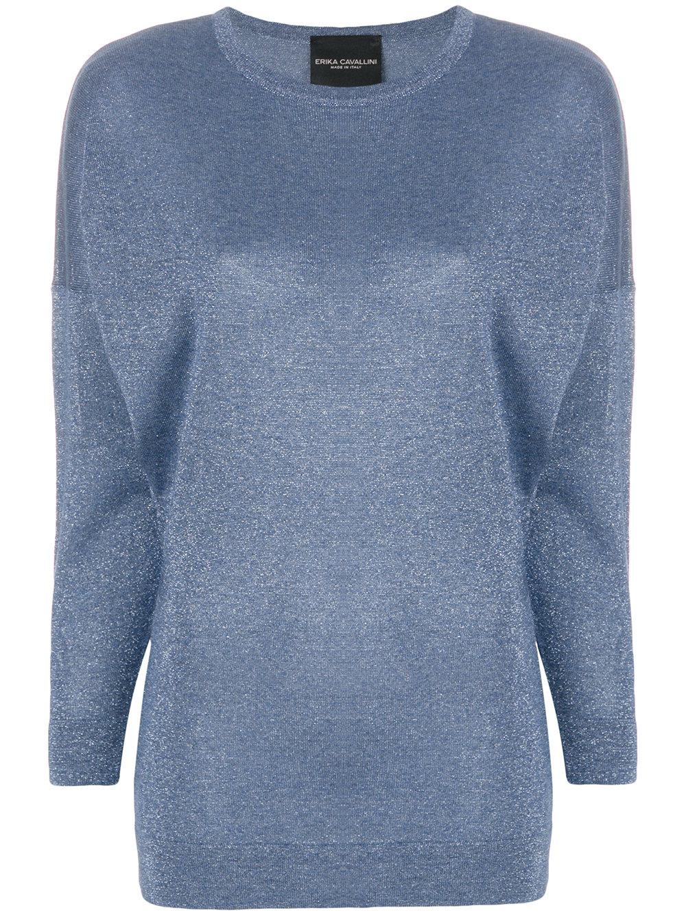 Pre Order Sale Online boat neck sweater - Blue Erika Cavallini Semi Couture Lowest Price Free Shipping Best Sale Manchester Great Sale For Sale 0r8D0wWo