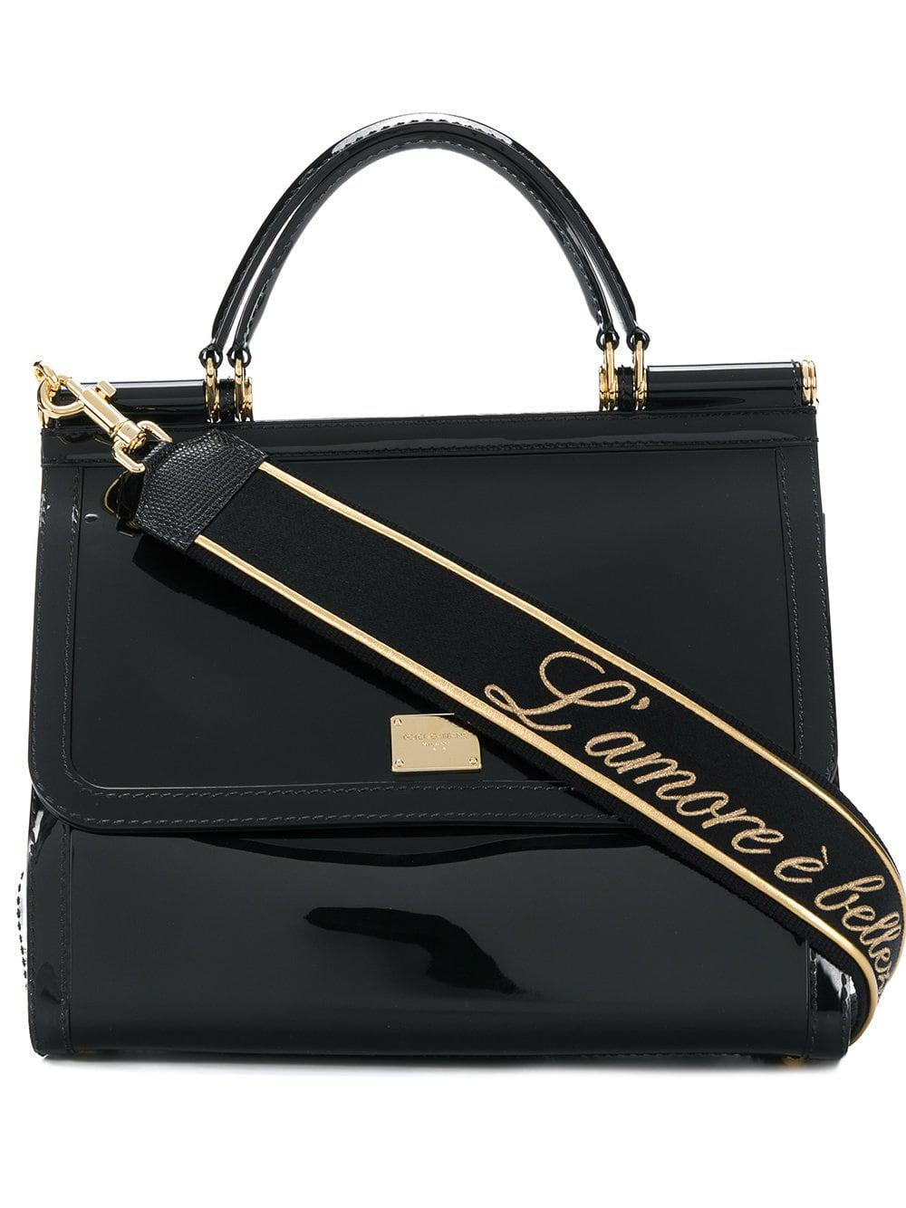 716c2112f7 Lyst - Dolce   Gabbana Sicily L amour Shoulder Bag in Black - Save 4%