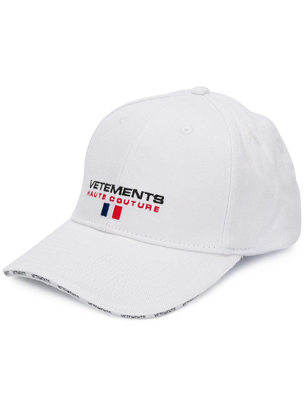 Vetements Logo Cotton Cap in White for Men - Lyst 1d16c9ca2c7b