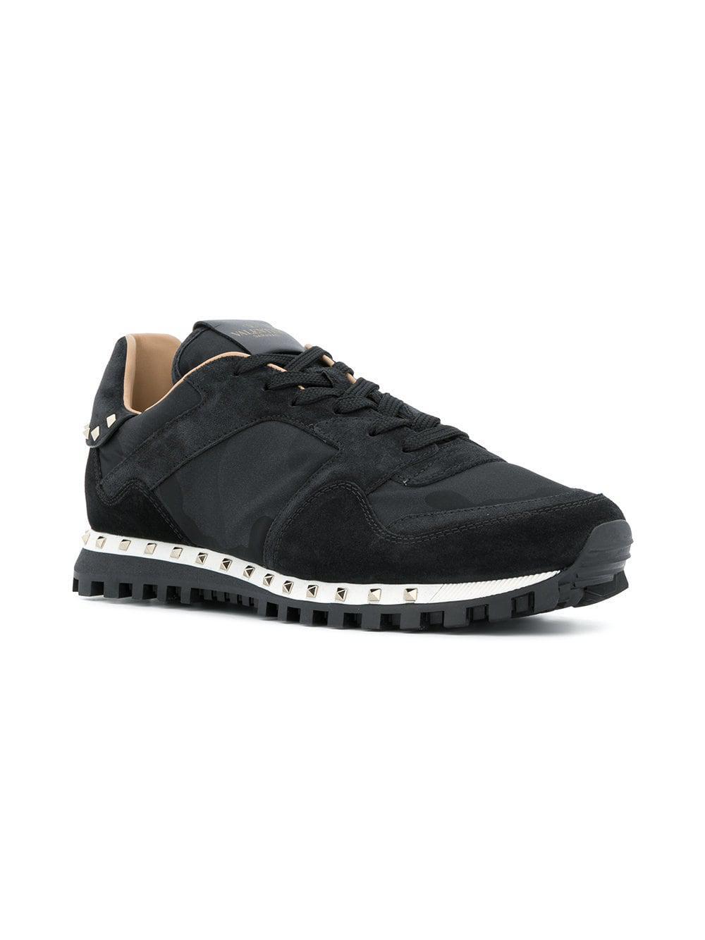 9e15f4066eef5 Lyst - Valentino Garavani Soul Rockstud Sneakers in Black for Men - Save 44%