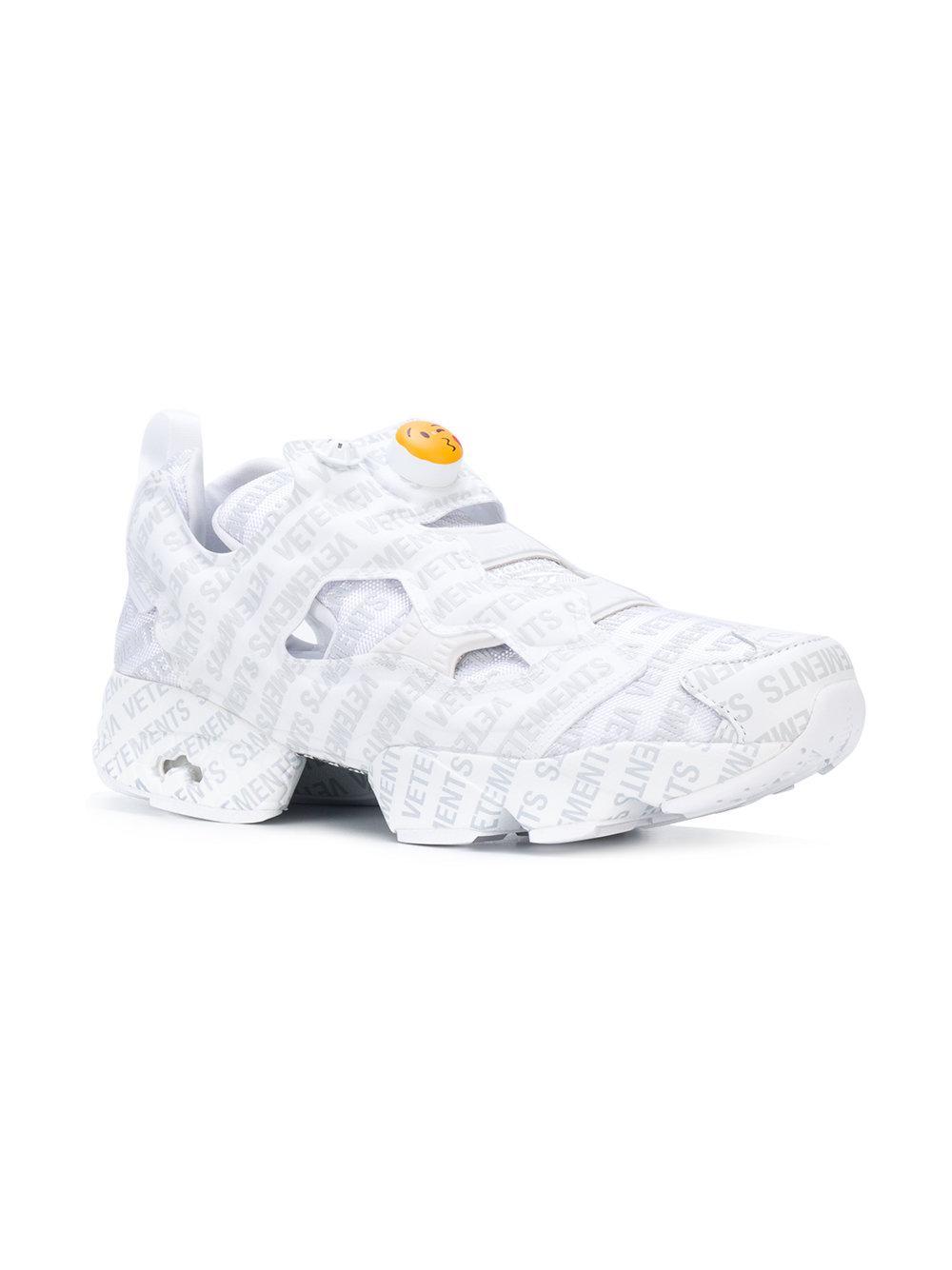Vetements Instampump Logo Sneakers in White - Lyst 947624c95
