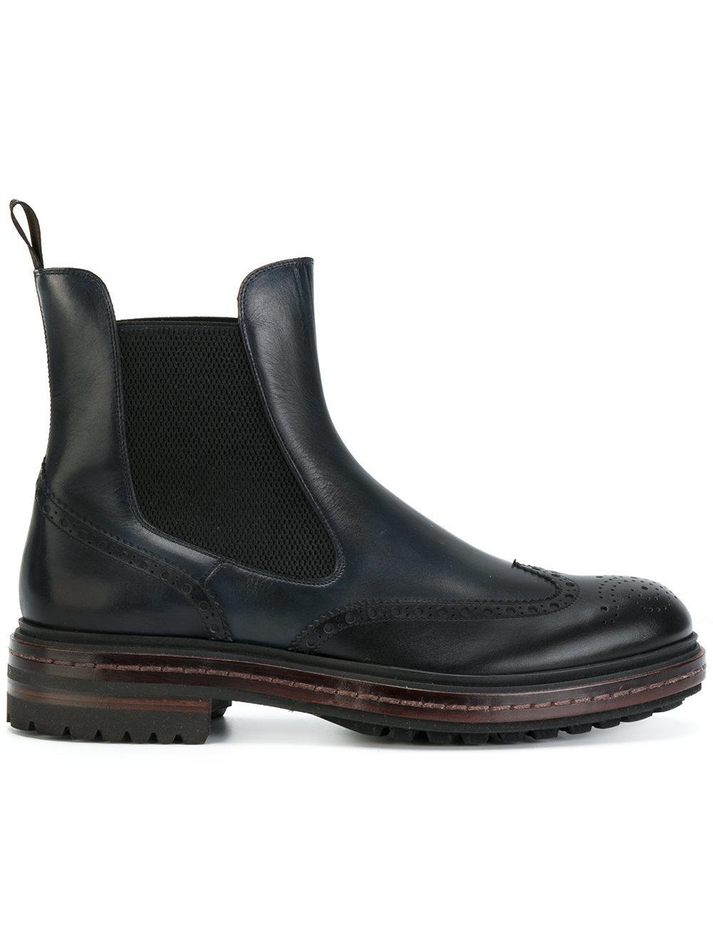 fd34bbbf51454 Santoni Beatles Ankle Boots in Blue - Lyst
