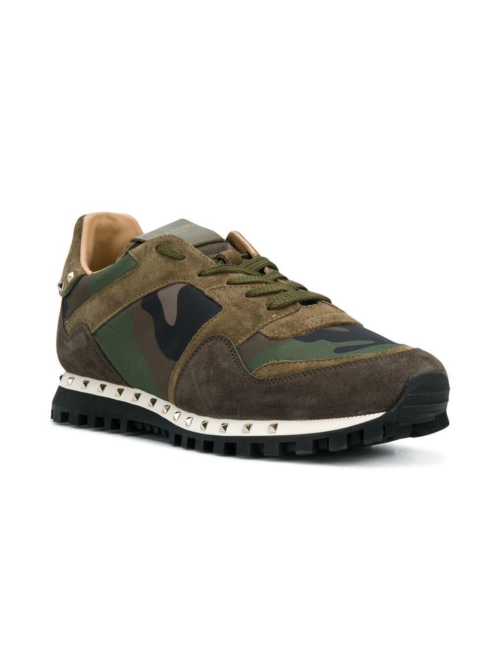 f8becd707ebec Valentino Garavani Soul Rockstud Sneakers in Green for Men - Save 30% - Lyst