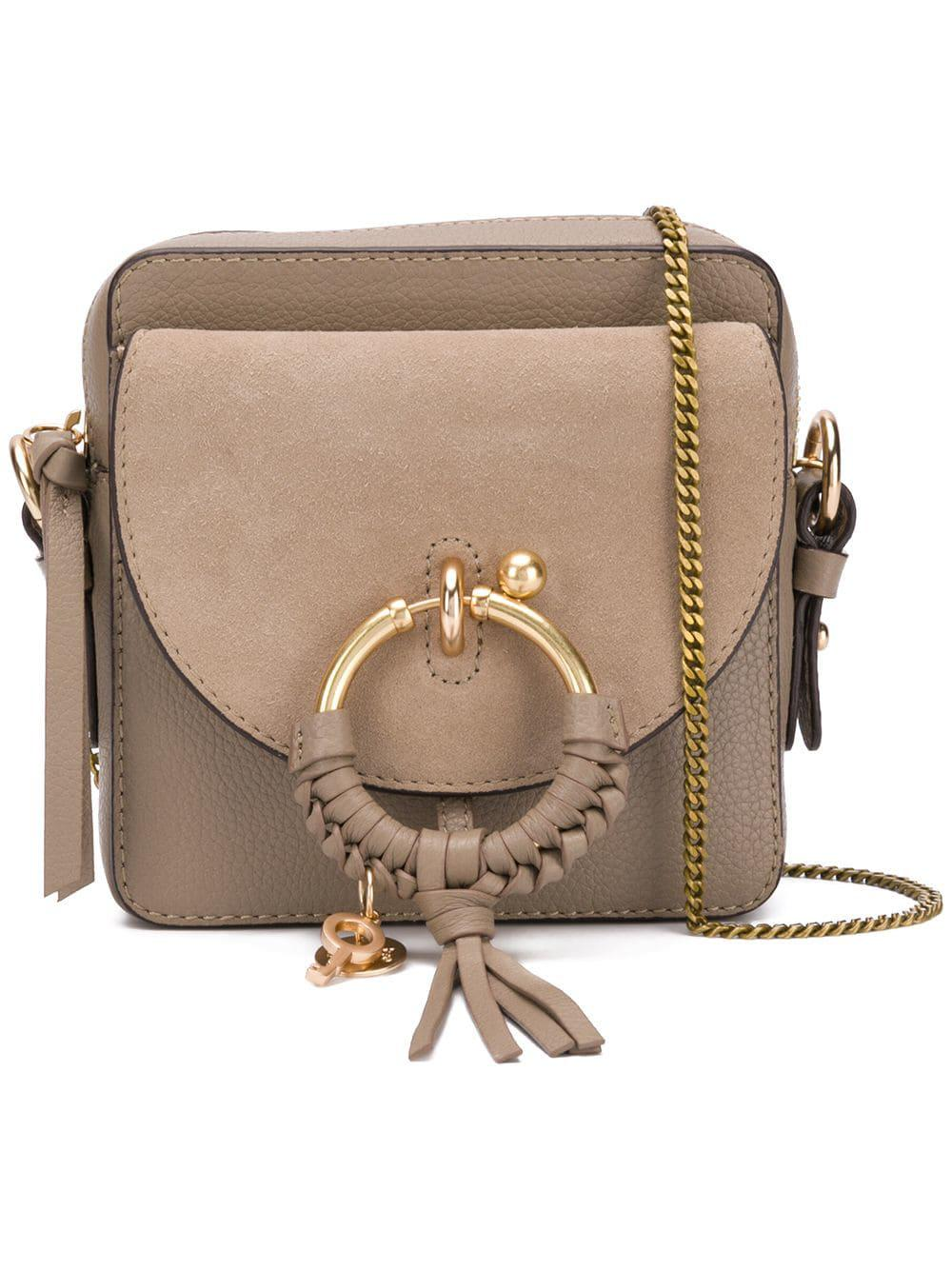 47ed2cdec877 See By Chloé - Gray Leather Shoulder Bag - Lyst. View fullscreen