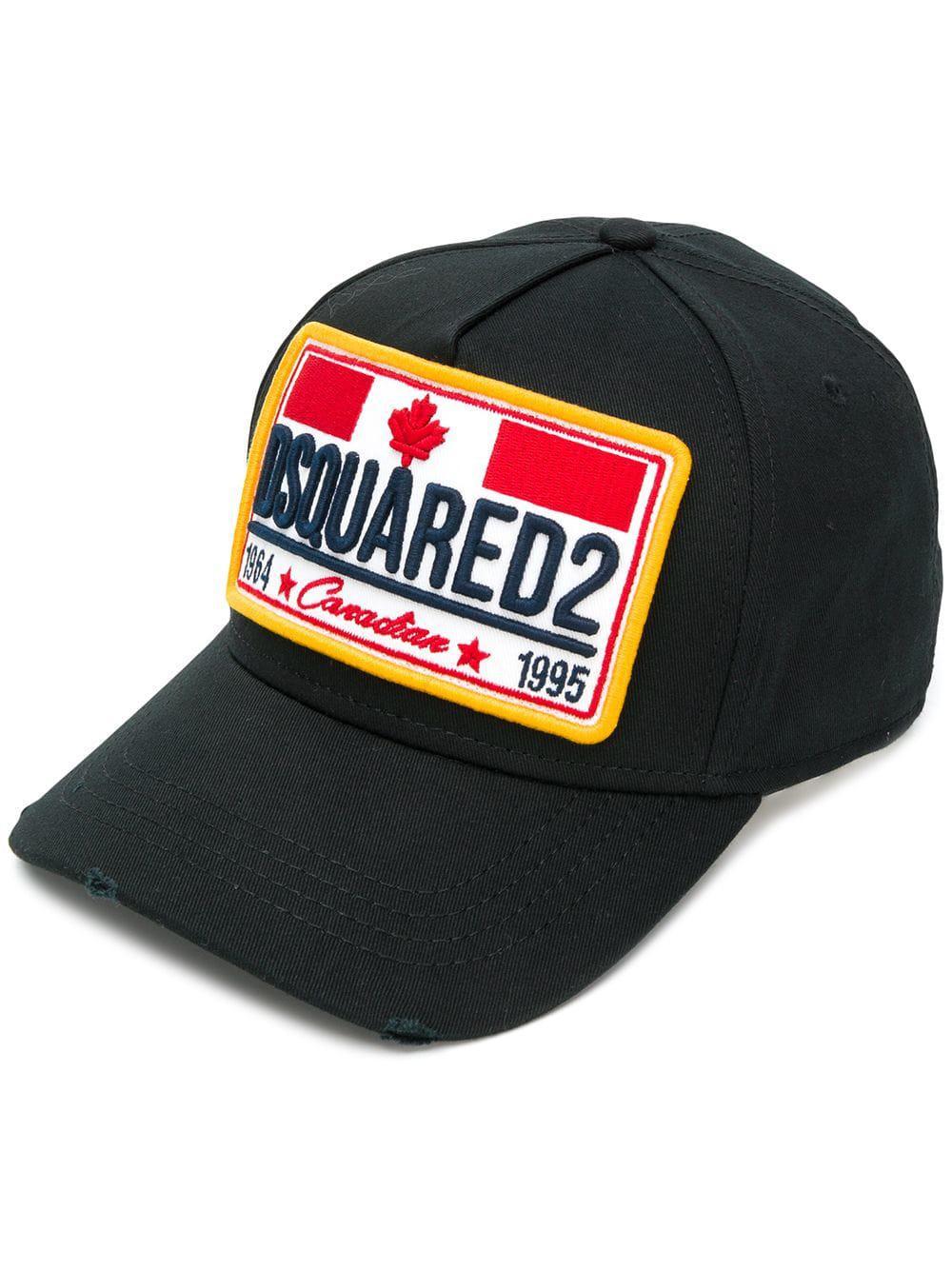 102bcb2dd69 Dsquared² Badge Embroidered Baseball Hat in Black for Men - Save ...