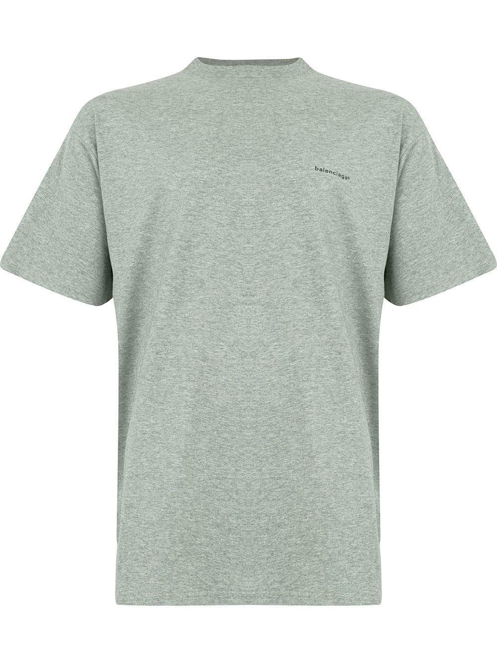 58fde62b7cf0 Lyst - Balenciaga Cotton T-shirt in Gray for Men