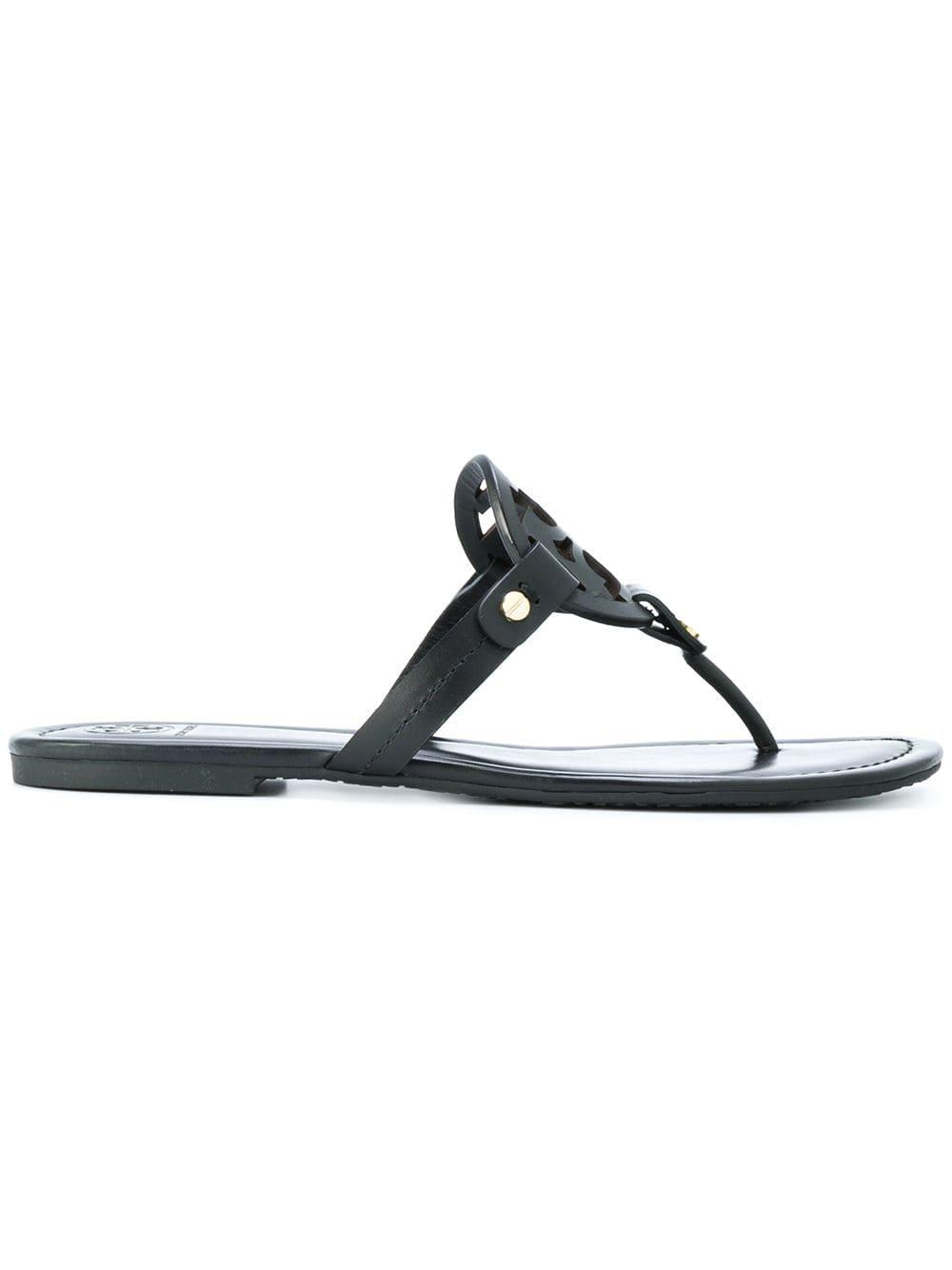 1e55d8a483b Lyst - Tory Burch Miller Leather Sandals in Black