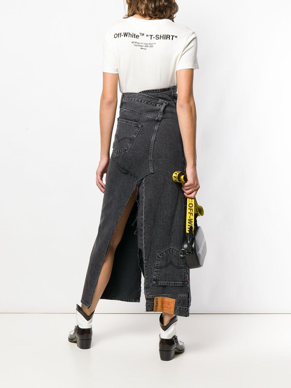 9d1e65a5afda Vetements Denim Long Skirt in Black - Save 7% - Lyst