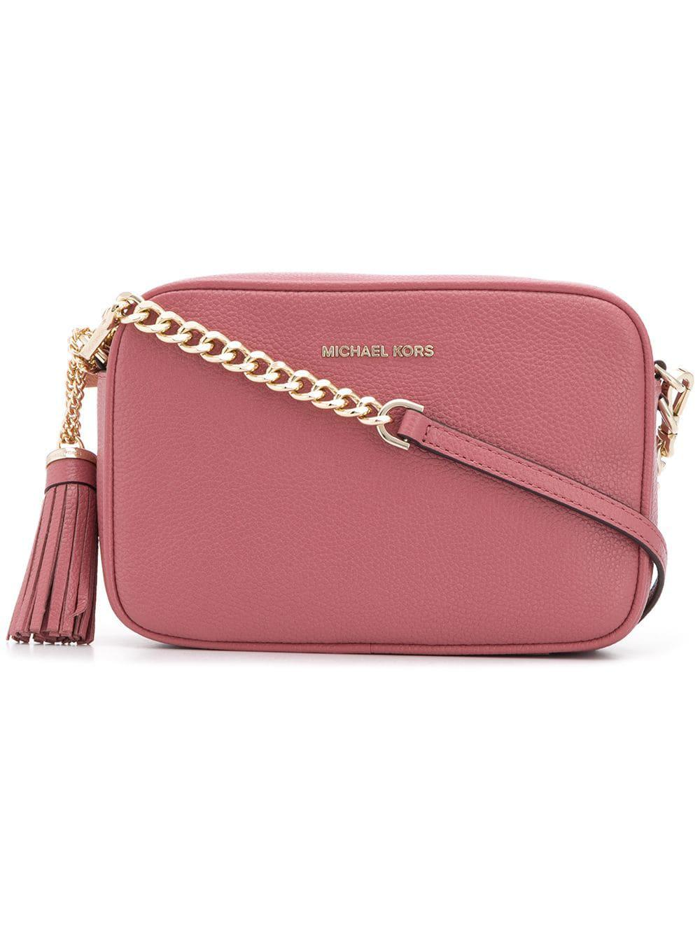 a20c0b0dd859 Michael Michael Kors Leather Camera Bag in Pink - Lyst