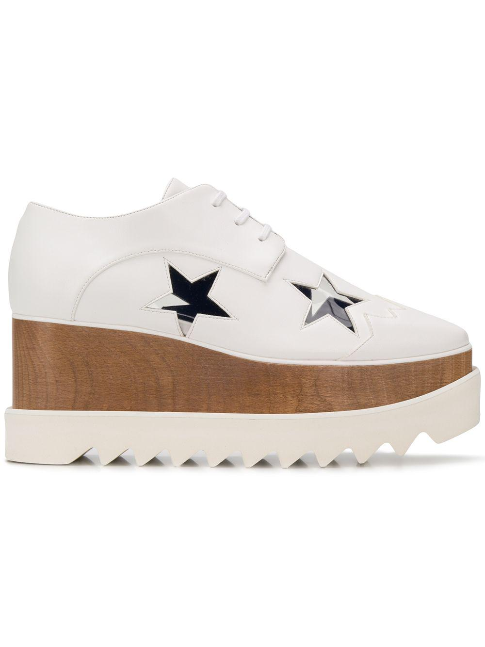 bf4d0e3dd9b6 Lyst - Stella McCartney Elyse Star Sneakers in White