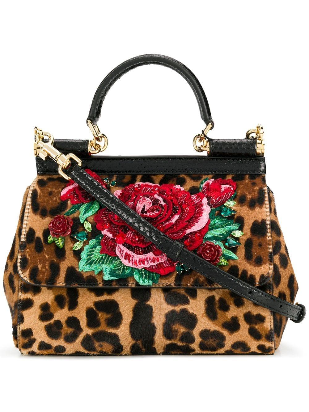 d2c853b57f Lyst - Dolce   Gabbana Miss Sicily Small Leather Shoulder Bag - Save 20%