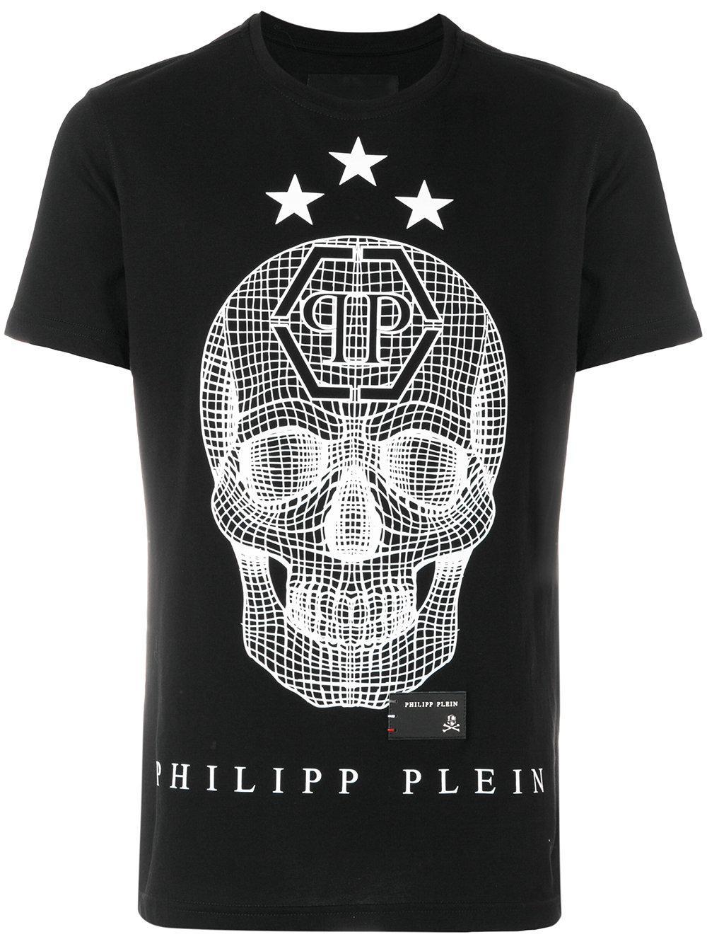 lyst philipp plein say something t shirt in black for men. Black Bedroom Furniture Sets. Home Design Ideas