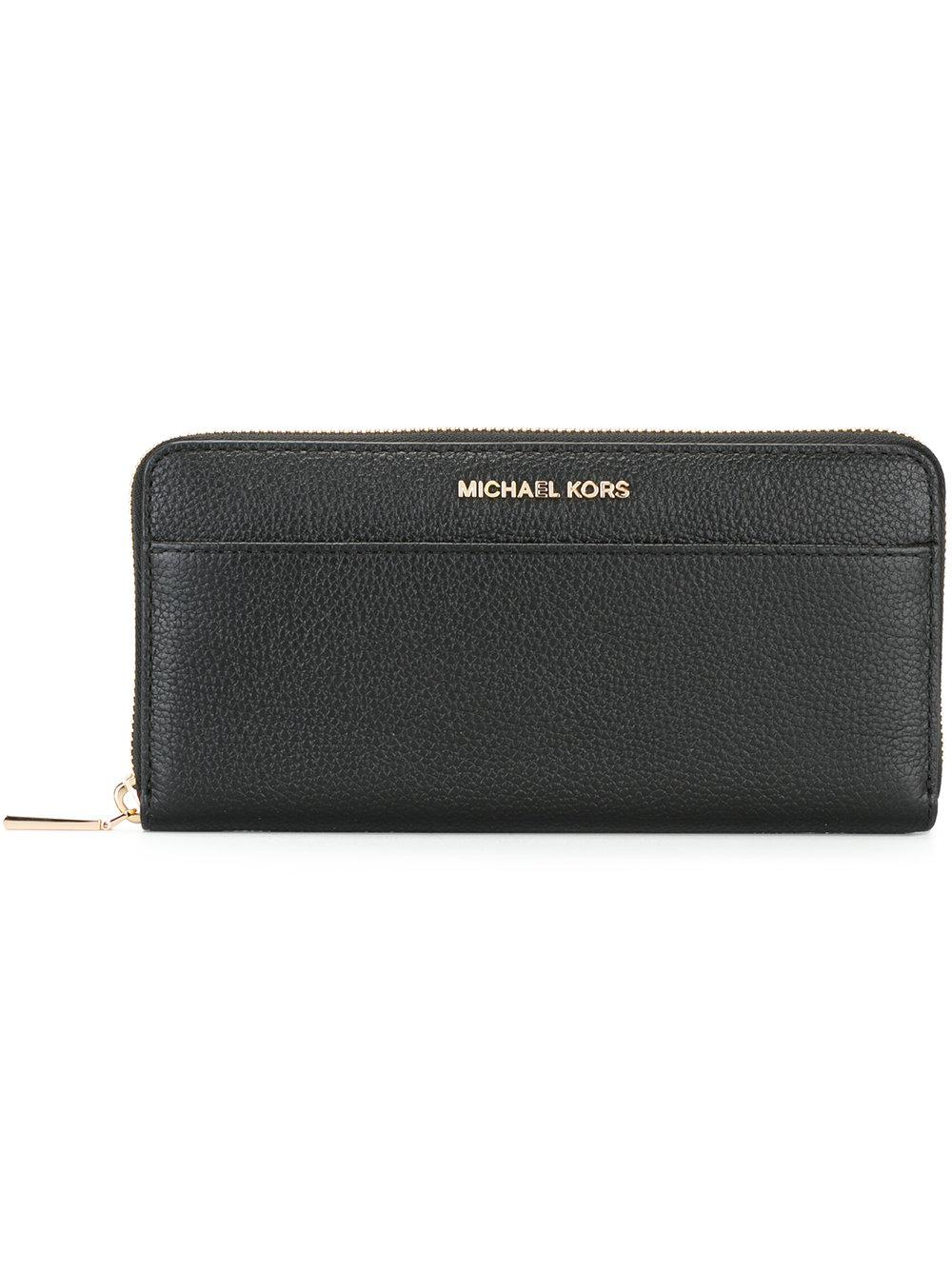 a6d2b65014ce MICHAEL Michael Kors Mercer Leather Wallet in Black - Save 42% - Lyst