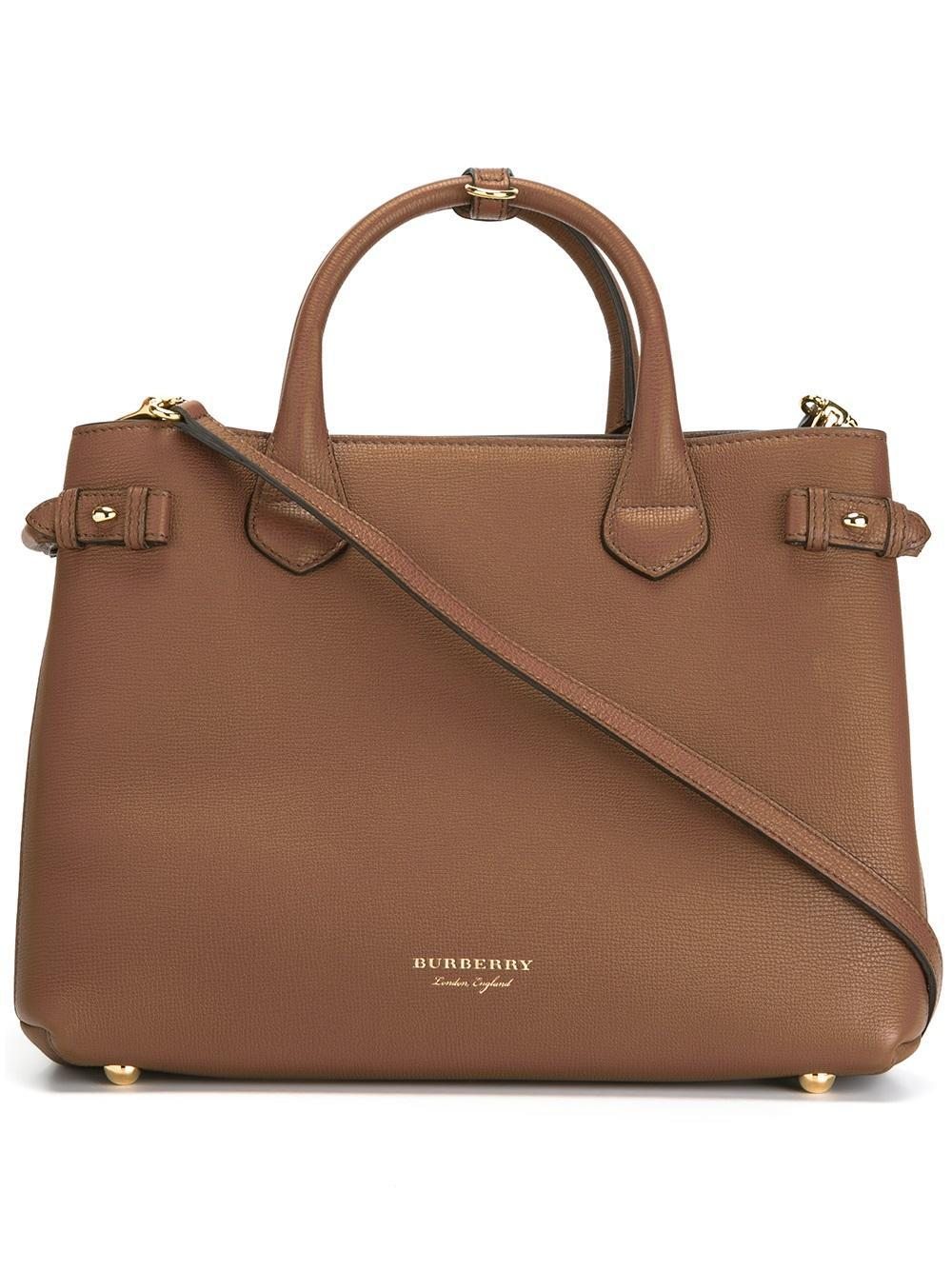 Burberry Medium  banner  Handbag in Brown - Lyst c19b60b31a0f7