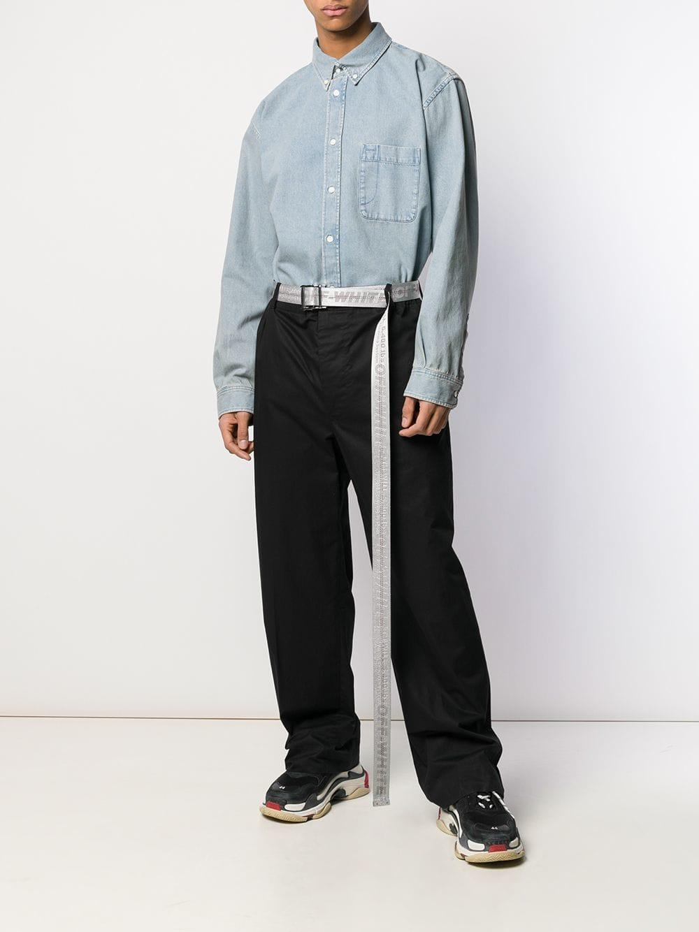 1142682b Lyst - Balenciaga Cotton Shirt in Blue for Men