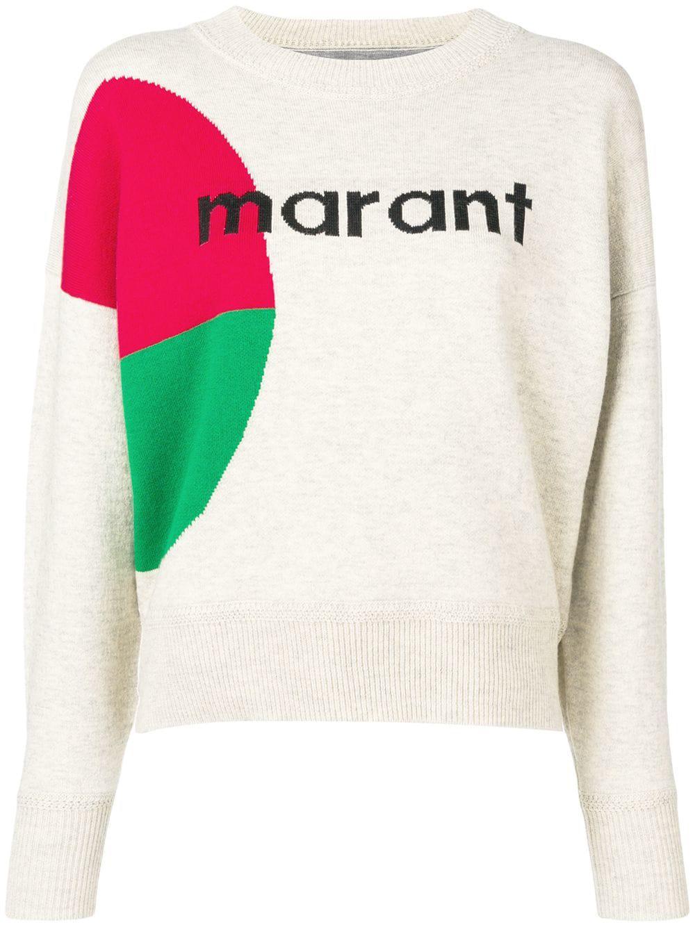 6804cd3ee9 Lyst - Étoile Isabel Marant Korbin Cotton Blend Sweater in Gray ...